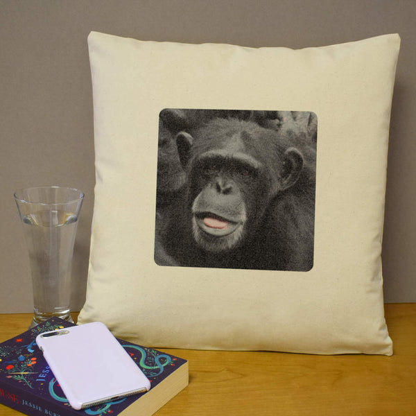 40cm x 40cm 'Chimpanzee' Canvas Cushion Cover (CV00005213)