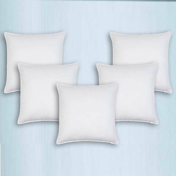 Pillow Trance Home Linen center for Sleeping five pieces White and blue color