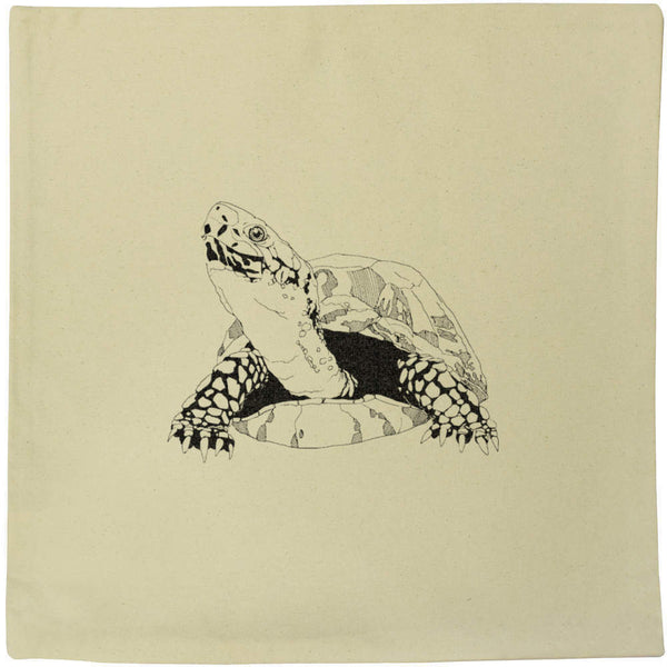 40cm x 40cm 'Tortoise' Canvas Cushion Cover (CV00000197)