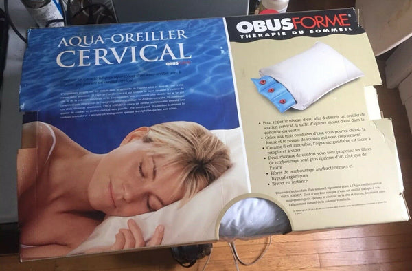 ObusForme Comfort Sleep Cervical Water Pillow NOS new Old Stock Sealed Bag
