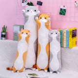 Long Cute Cat Doll Plush Toy Soft Stuffed Kitten Sleeping Pillow Home Decor UK