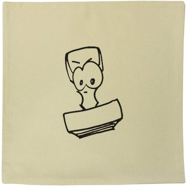 40cm x 40cm 'Angry Stamp' Canvas Cushion Cover (CV00016670)