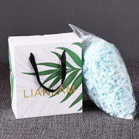LIANLAM Memory Foam Pillow for Sleeping Shredded Bed Bamboo Cooling Pillow with