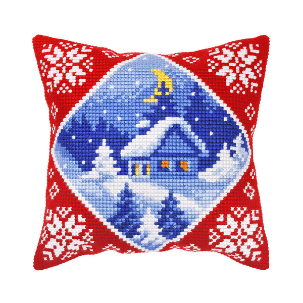 """Christmas"" Front Cushion Cross stitch kit for Pillow - Orchidea 9358"
