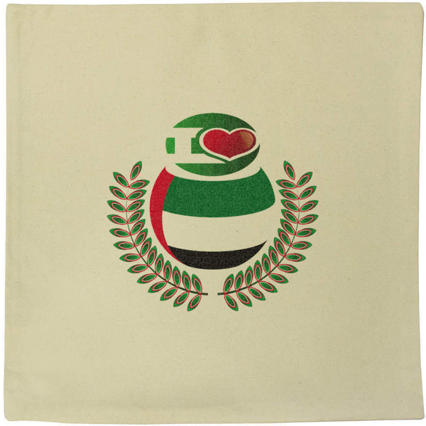40cm x 40cm 'I Love UAE' Canvas Cushion Cover (CV00016881)