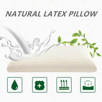 Latex Pillow Foam Deep Sleep Luxury Anti Snore Medium Support Breathable Comfort