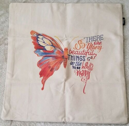 "There are so Many Beautiful Things in the World Canvas Pillow Cover 18"" US SLR"