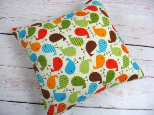 "14"" Colorful Bird Baby Nursery Room Home Decor Cotton Throw Pillow Cover"