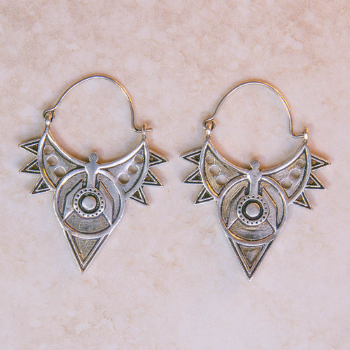 Spiked South American Aztec earrings