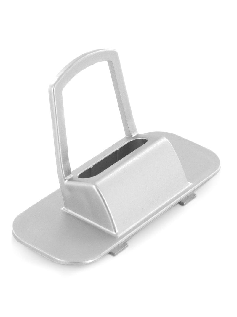 Side profile image of the Proporta Lightning Dock Devices mount in Silver