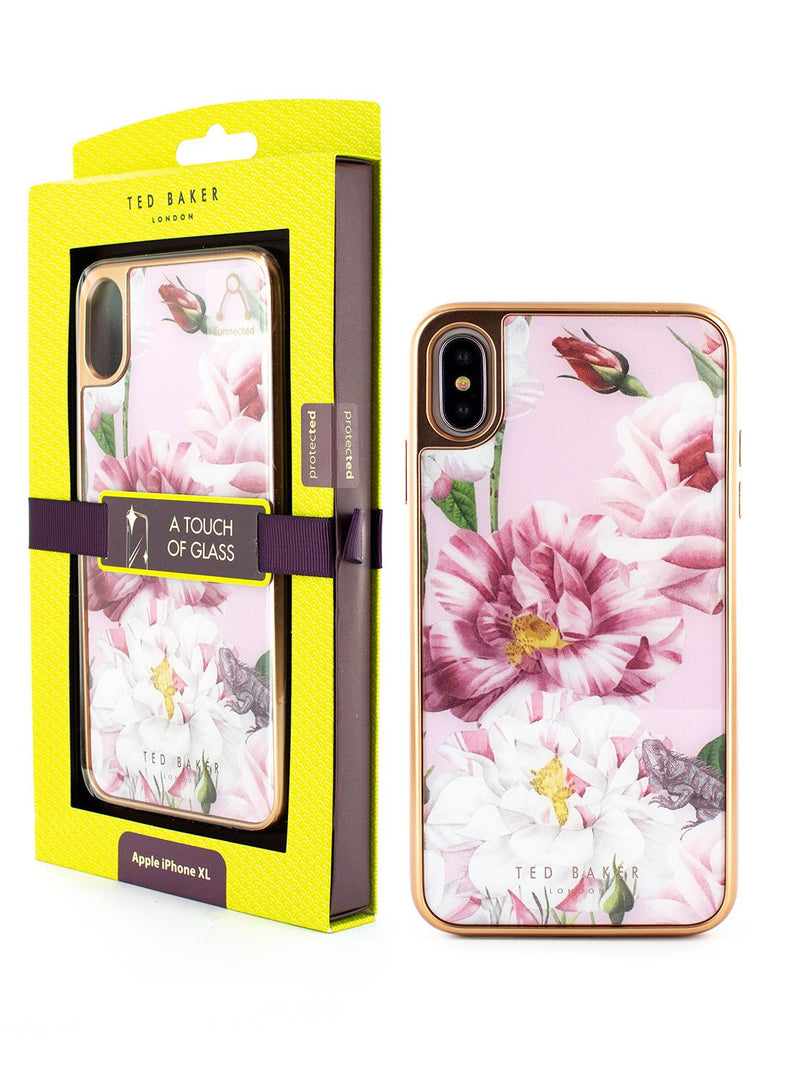 Packaging image of the Ted Baker Apple iPhone XS Max phone case in Pink