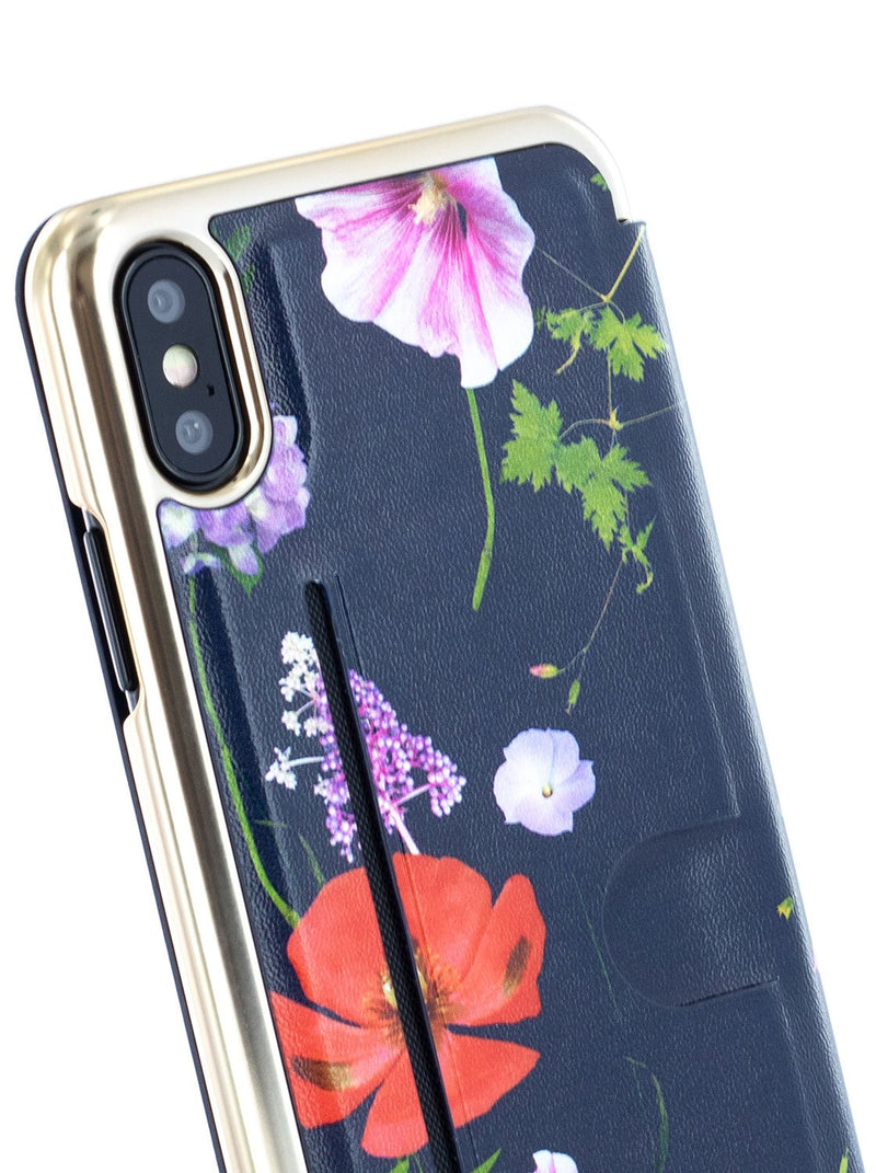Detail image of the Ted Baker Apple iPhone XS / X phone case in Dark Blue