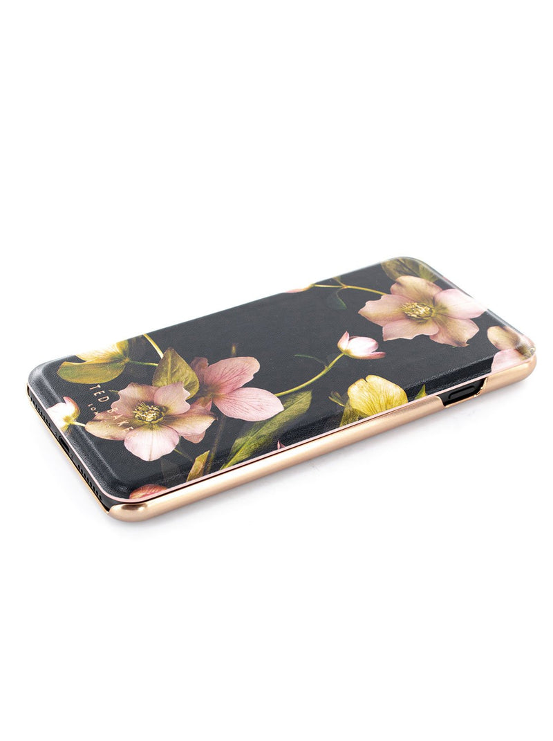 Face up image of the Ted Baker Apple iPhone 8 Plus / 7 Plus phone case in Arboretum Black
