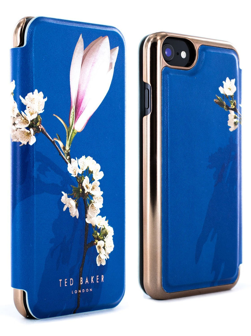 Front and back image of the Ted Baker Apple iPhone 8 / 7 / 6S phone case in Blue