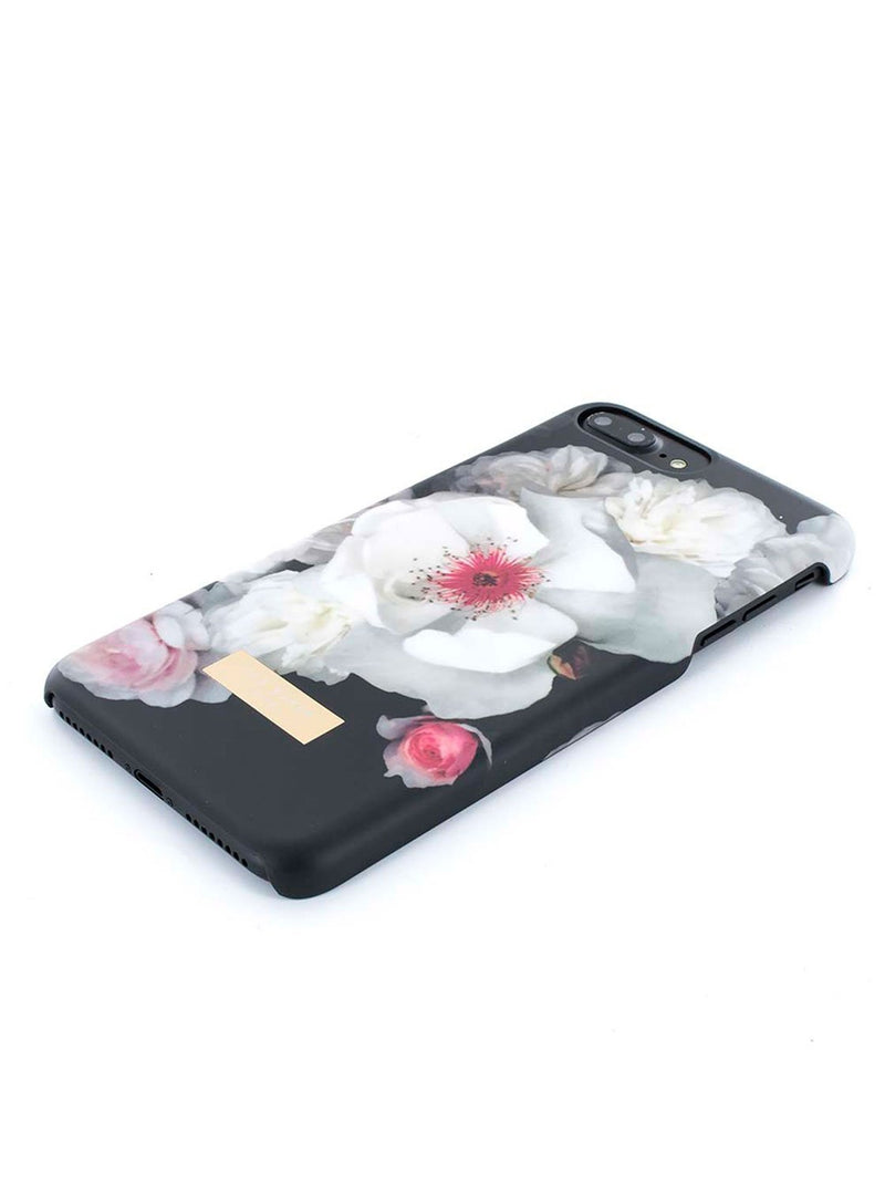 Face down image of the Ted Baker Apple iPhone 8 Plus / 7 Plus phone case in Black