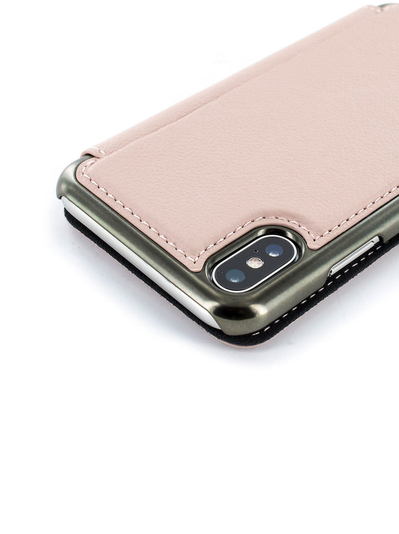 Detail image of the Greenwich Apple iPhone XS Max phone case in Blossom Pink