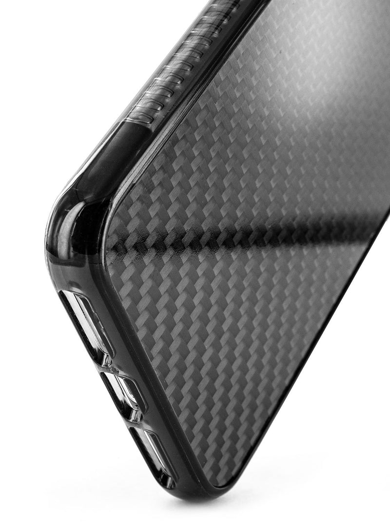 Bottom detail image of the Proporta Apple iPhone XS Max phone case in Black