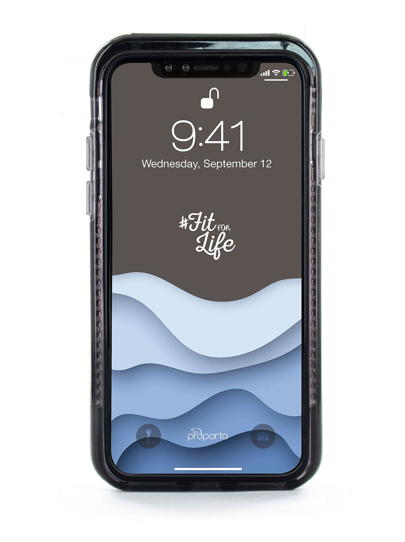 Front image of the Proporta Apple iPhone XS / X phone case in Black