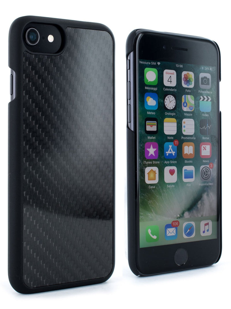 Front and back image of the Proporta Apple iPhone 8 / 7 / 6S phone case in Black