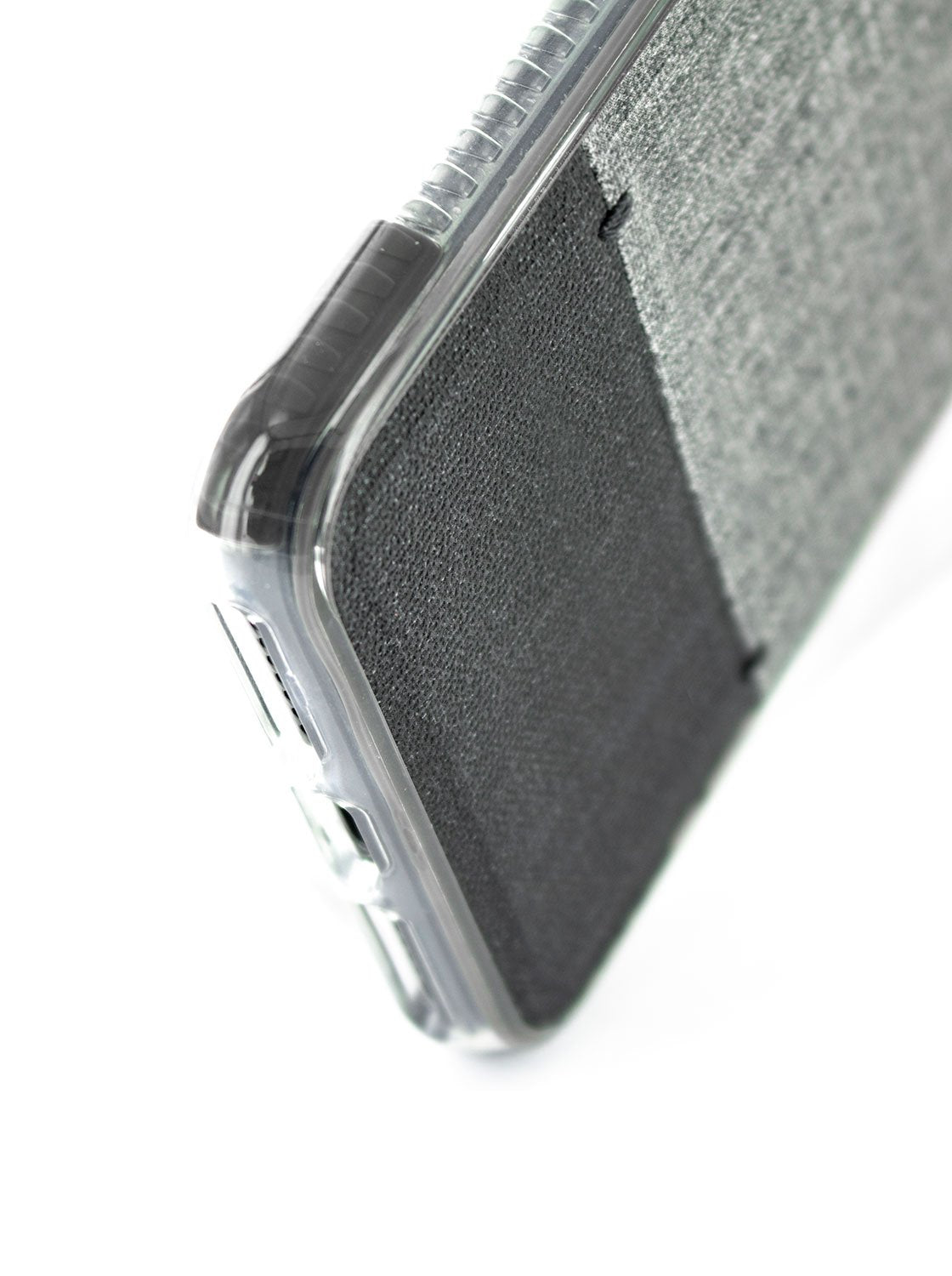Bottom detail image of the Proporta Apple iPhone 8 Plus / 7 Plus phone case in Grey