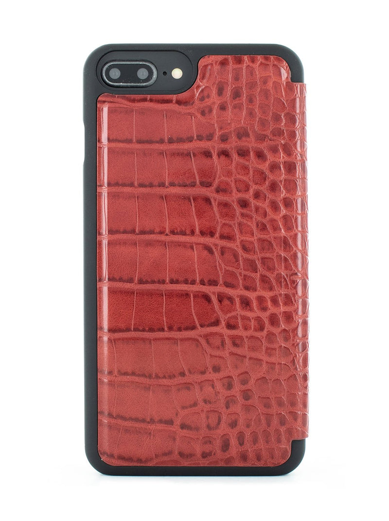 Back image of the Karen Millen Apple iPhone 8 Plus / 7 Plus phone case in Red