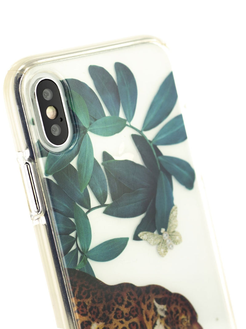 Detail image of the Ted Baker Apple iPhone XS / X phone case in Clear Print