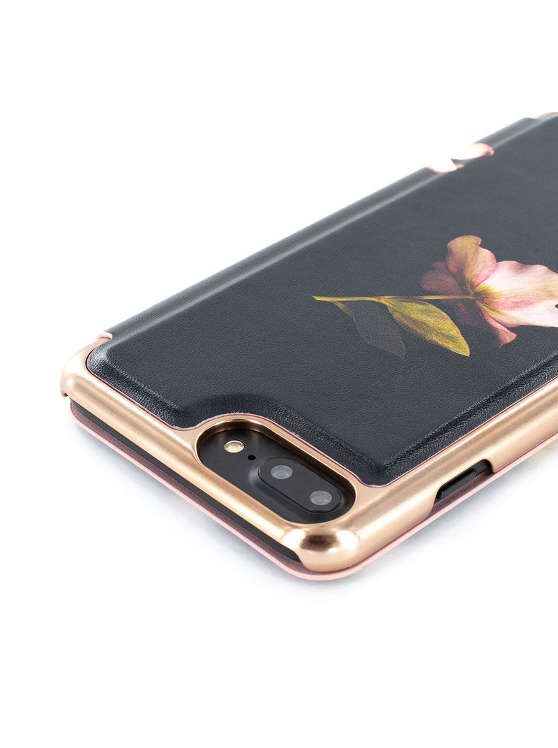 Detail image of the Ted Baker Apple iPhone 8 Plus / 7 Plus phone case in Arboretum Black
