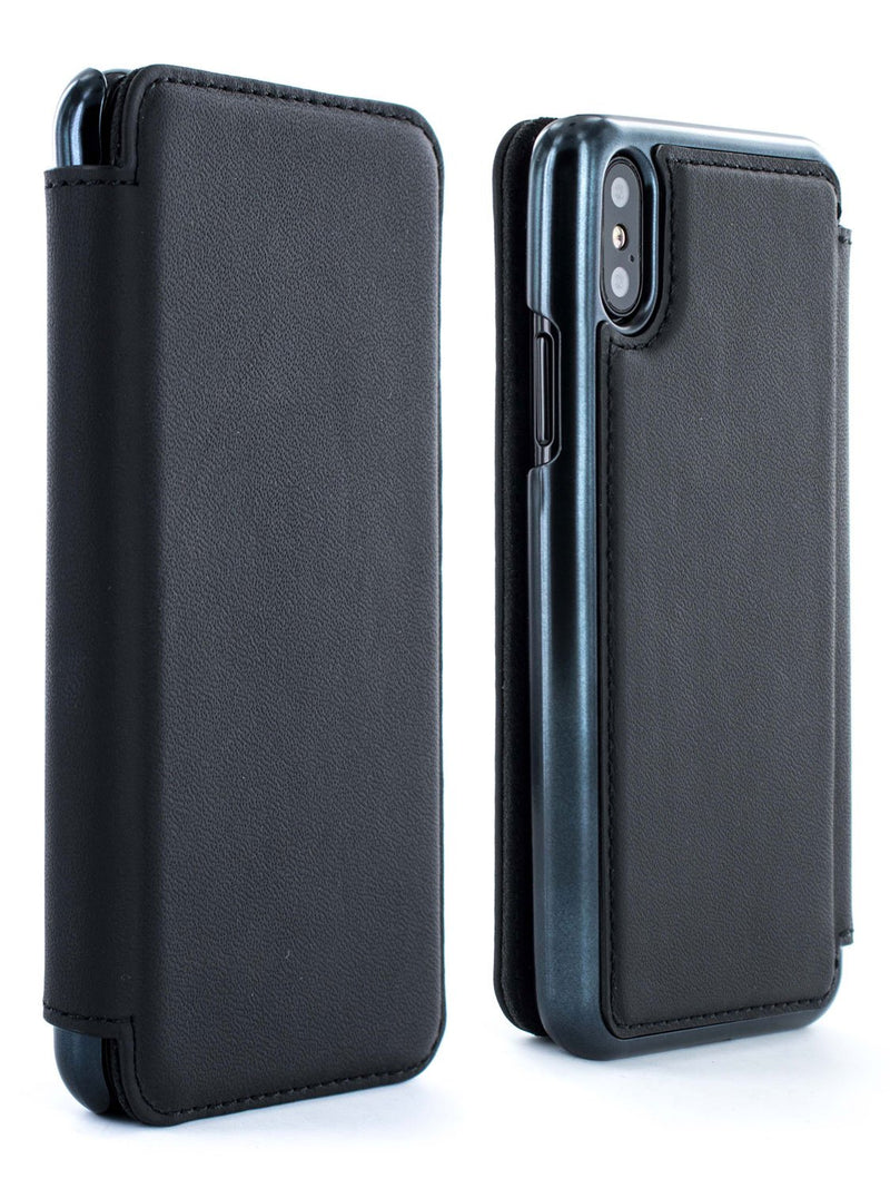 Front and back image of the Greenwich Apple iPhone XS / X phone case in Black