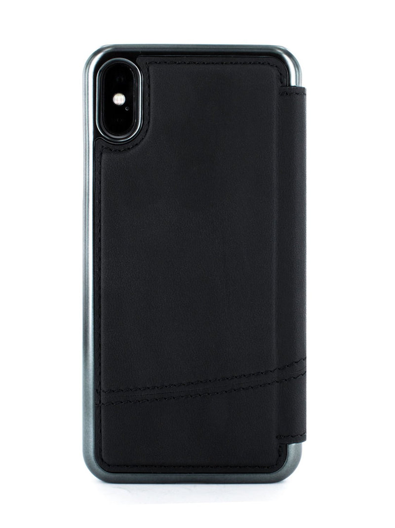 Back image of the Greenwich Apple iPhone XS / X phone case in Black