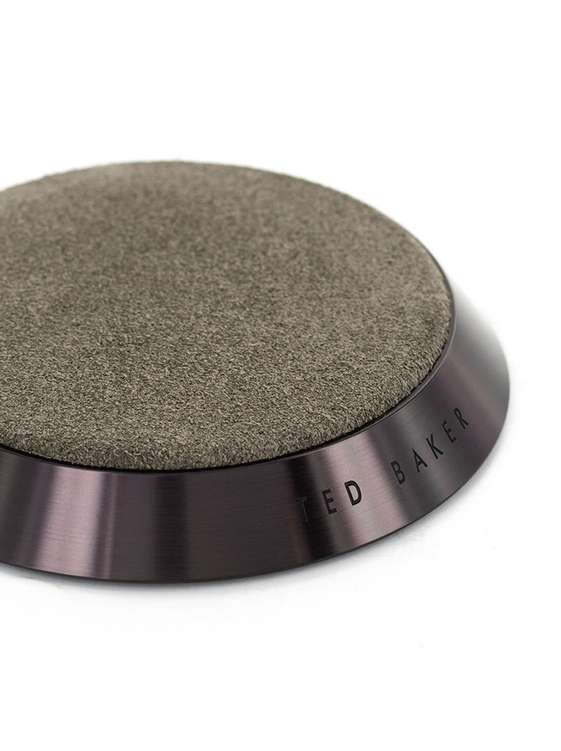 Detail image of the Ted Baker Universal wireless charger in Brown