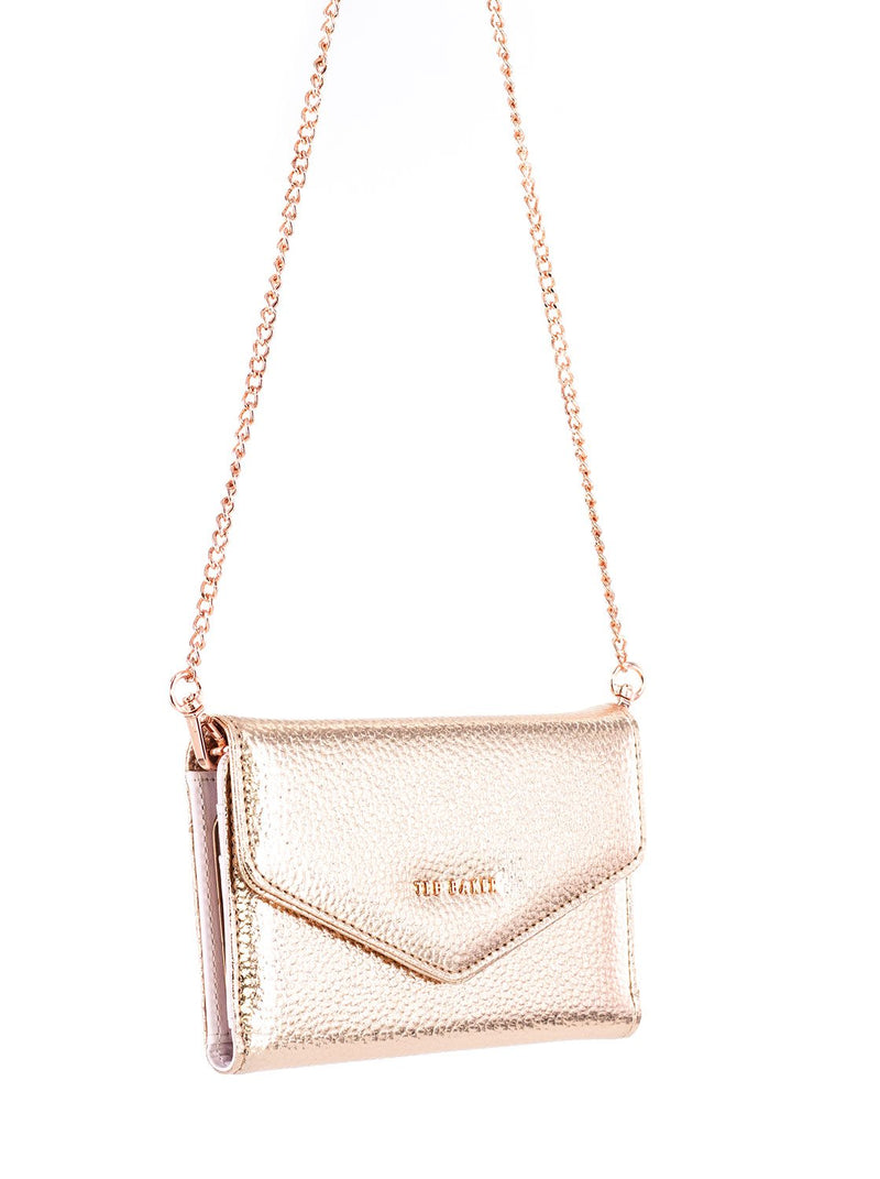 Arm chain image of the Ted Baker Apple iPhone XR phone case in Rose Gold