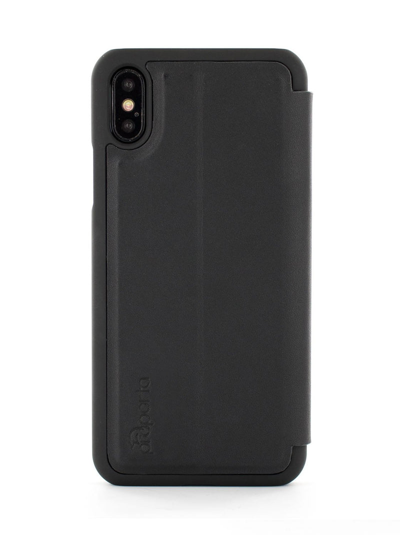 Back image of the Proporta Apple iPhone XS / X phone case in Black