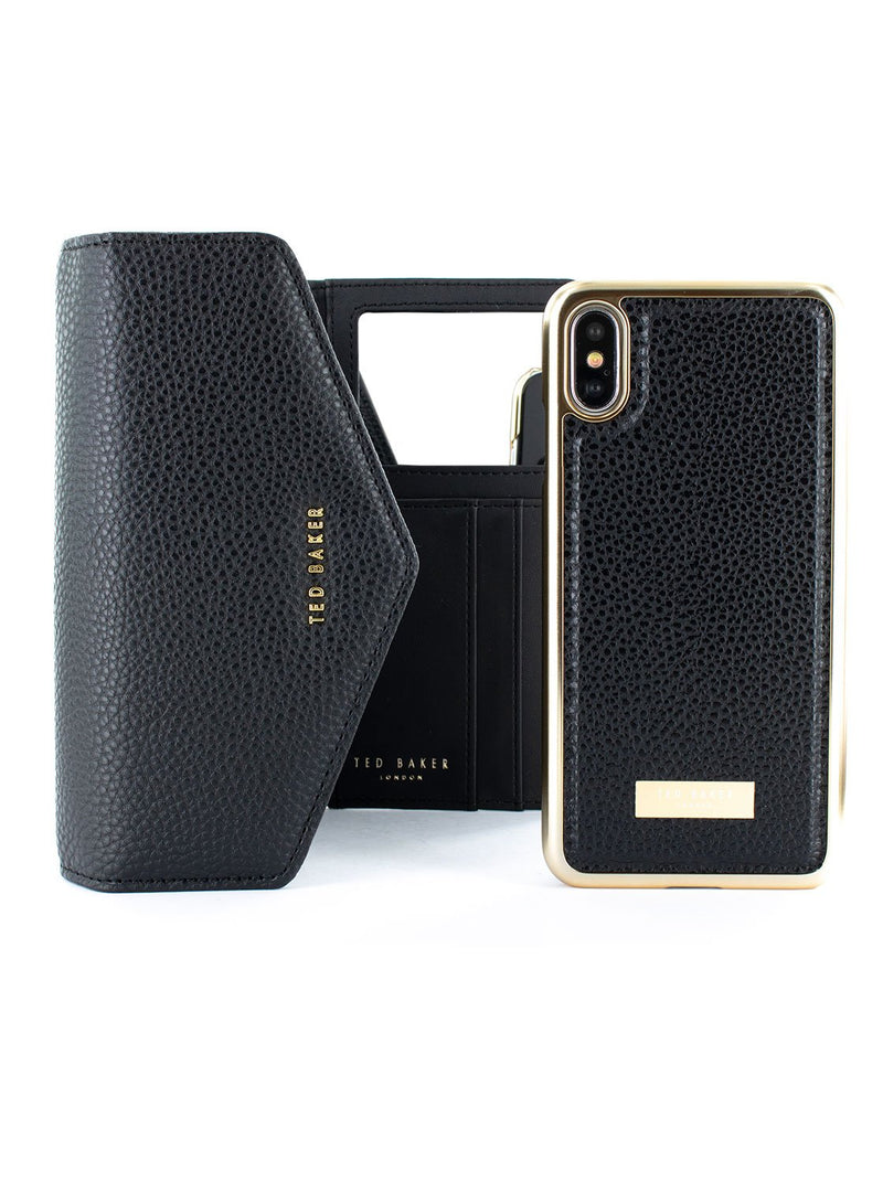 Bag with case image of the Ted Baker Apple iPhone XS / X phone case in Black