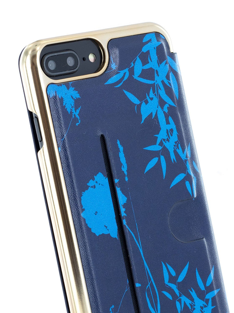 Detail image of the Ted Baker Apple iPhone 8 Plus / 7 Plus phone case in Blue