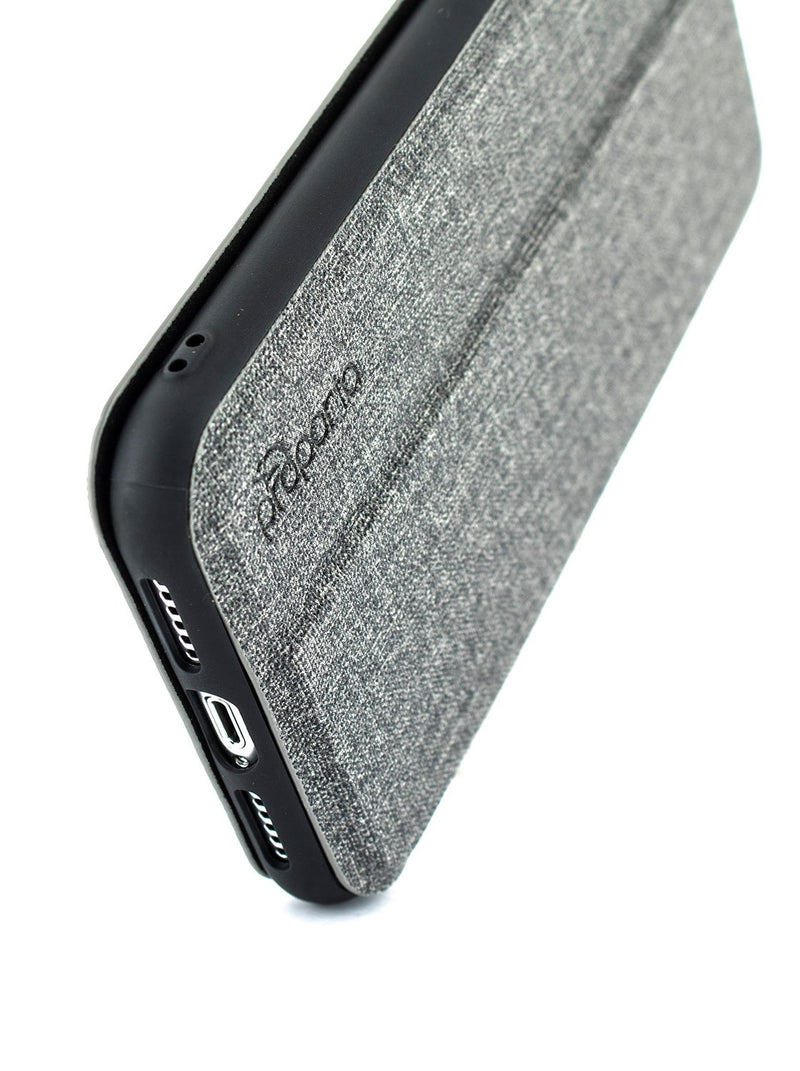 Detail image of the Proporta Apple iPhone XR phone case in Grey