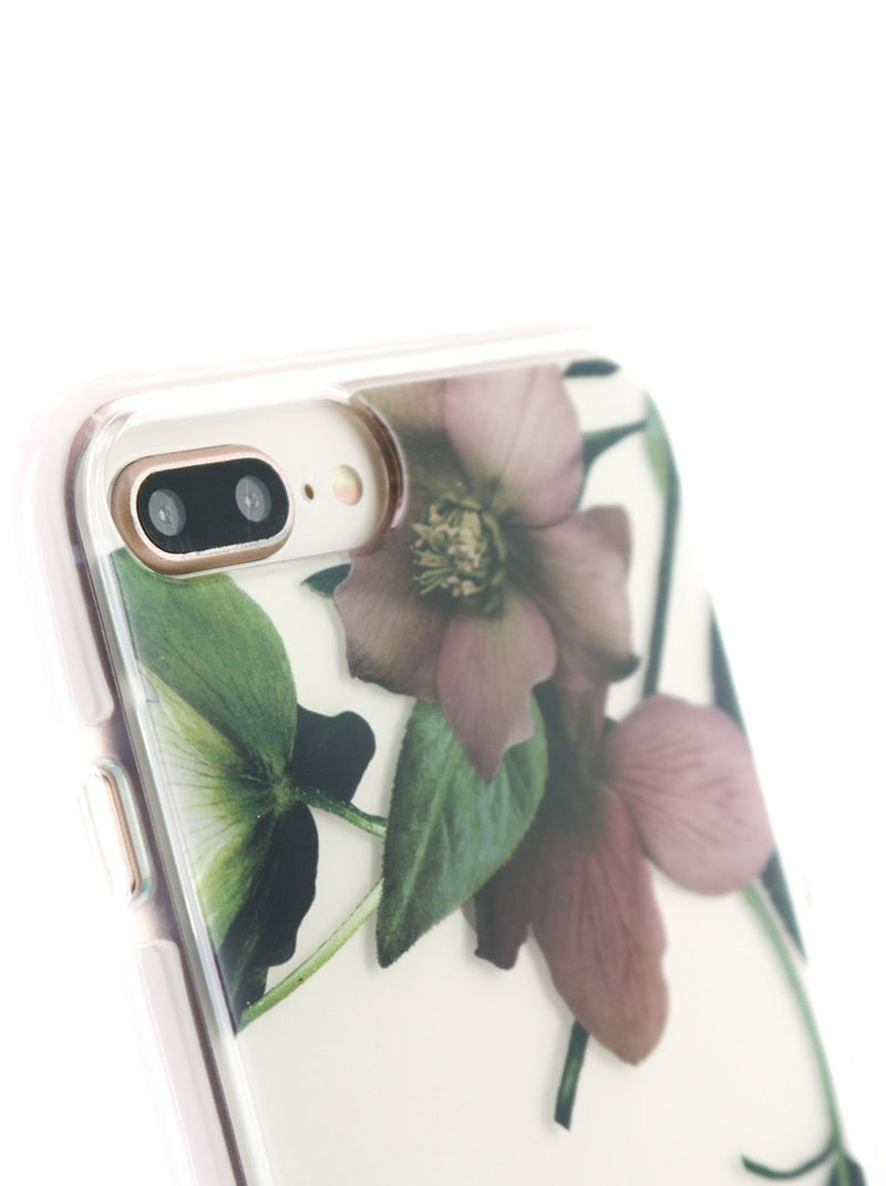 Detail image of the Ted Baker Apple iPhone 8 Plus / 7 Plus phone case in Clear Print