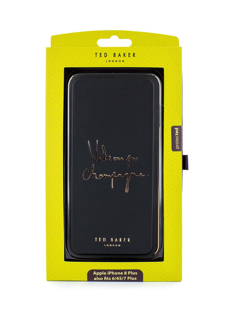 Packaging image of the Ted Baker Apple iPhone XS Max phone case in Black