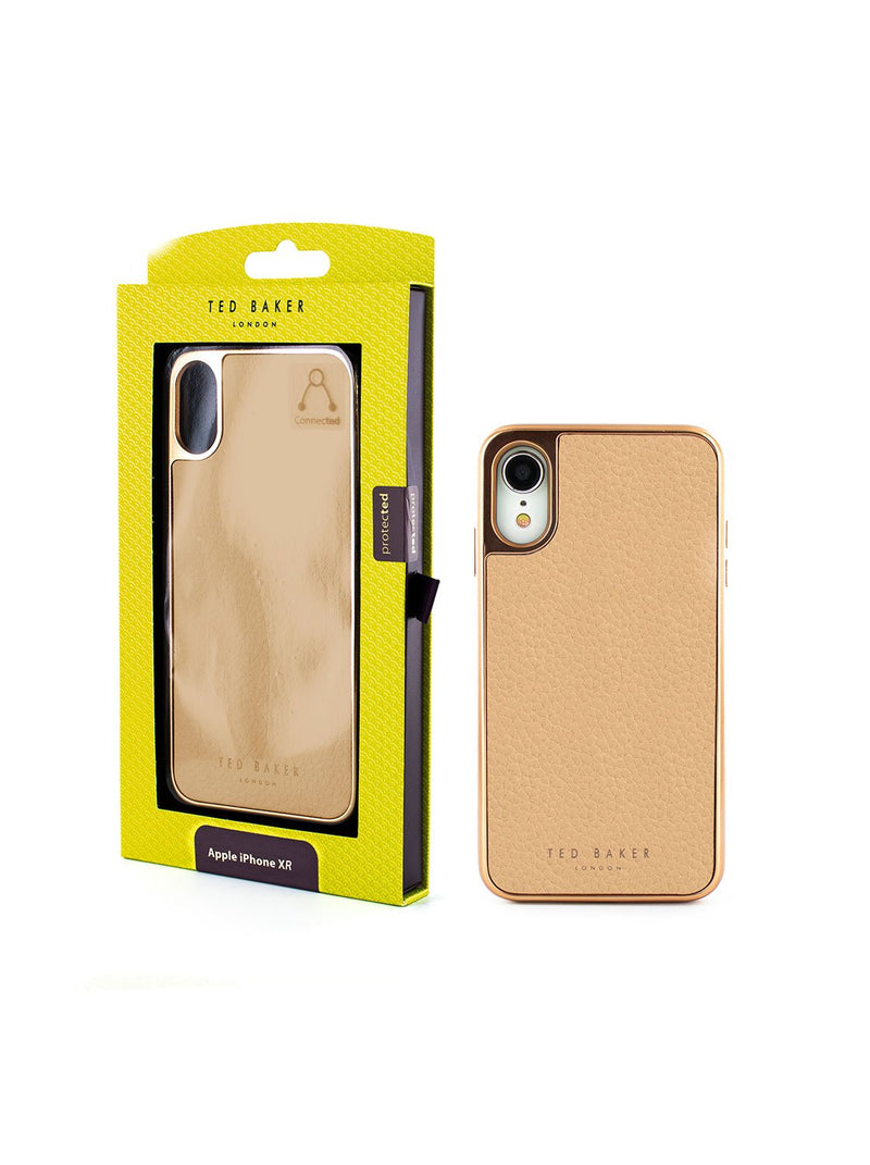 Packaging image of the Ted Baker Apple iPhone XR phone case in Taupe
