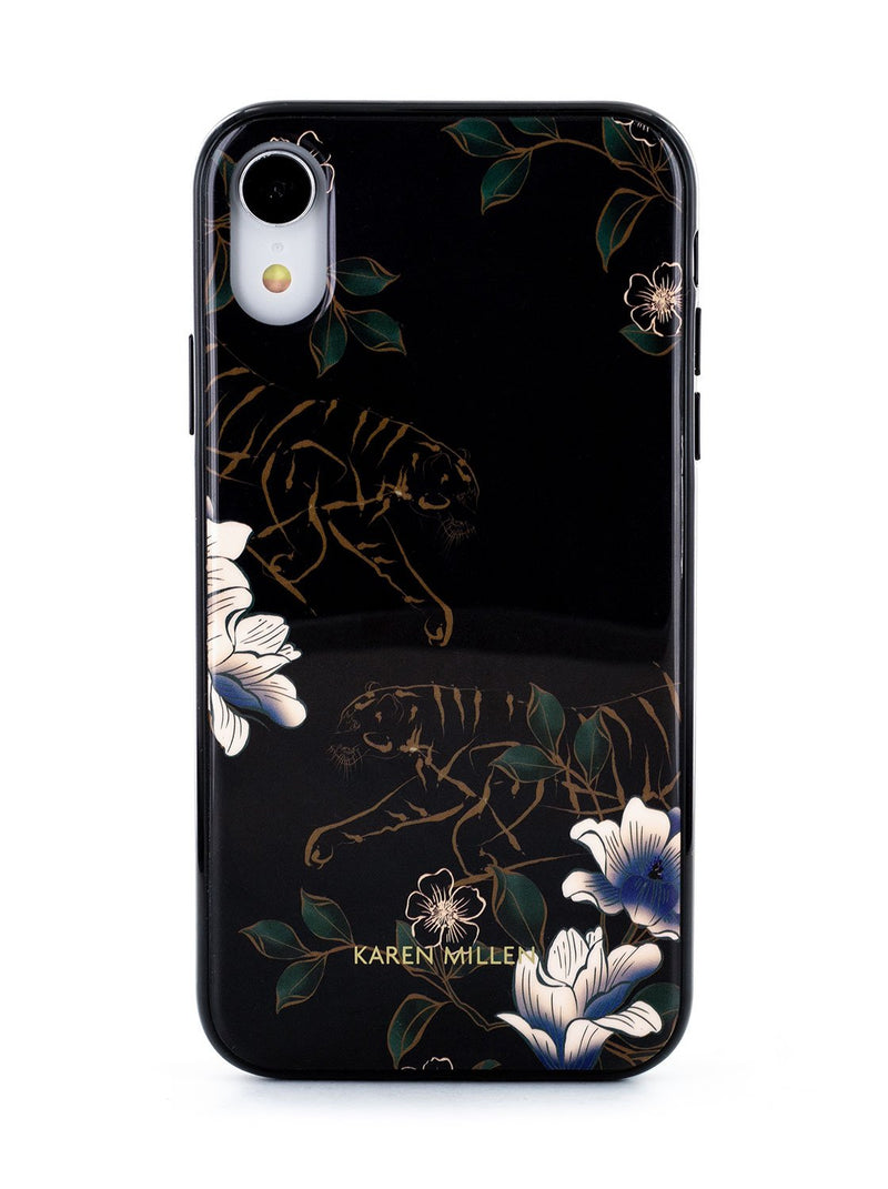 Hero image of the Karen Millen Apple iPhone XR phone case in Black