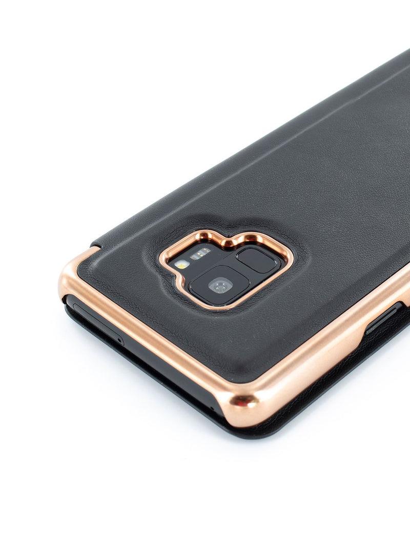 Detail image of the Ted Baker Samsung Galaxy S9 phone case in Black