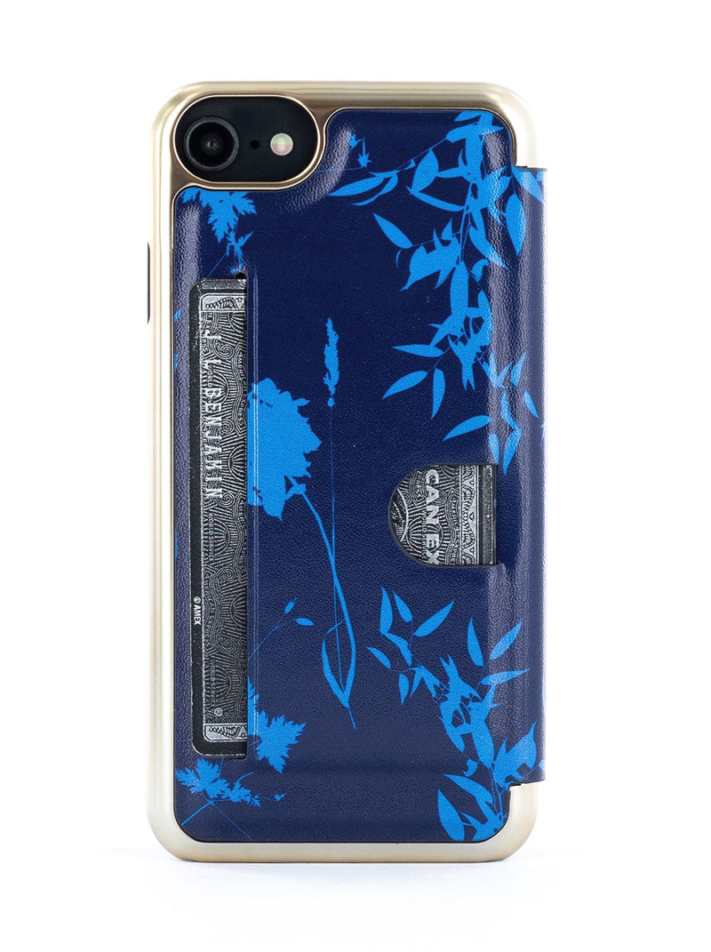 Back card slot image of the Ted Baker Apple iPhone 8 / 7 / 6S phone case in Blue