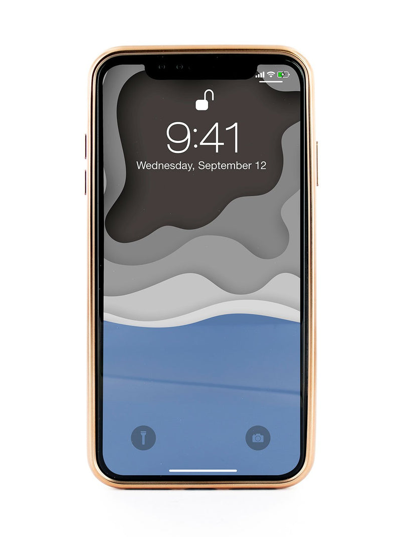 Back image of the Ted Baker Apple iPhone XS Max phone case in Black