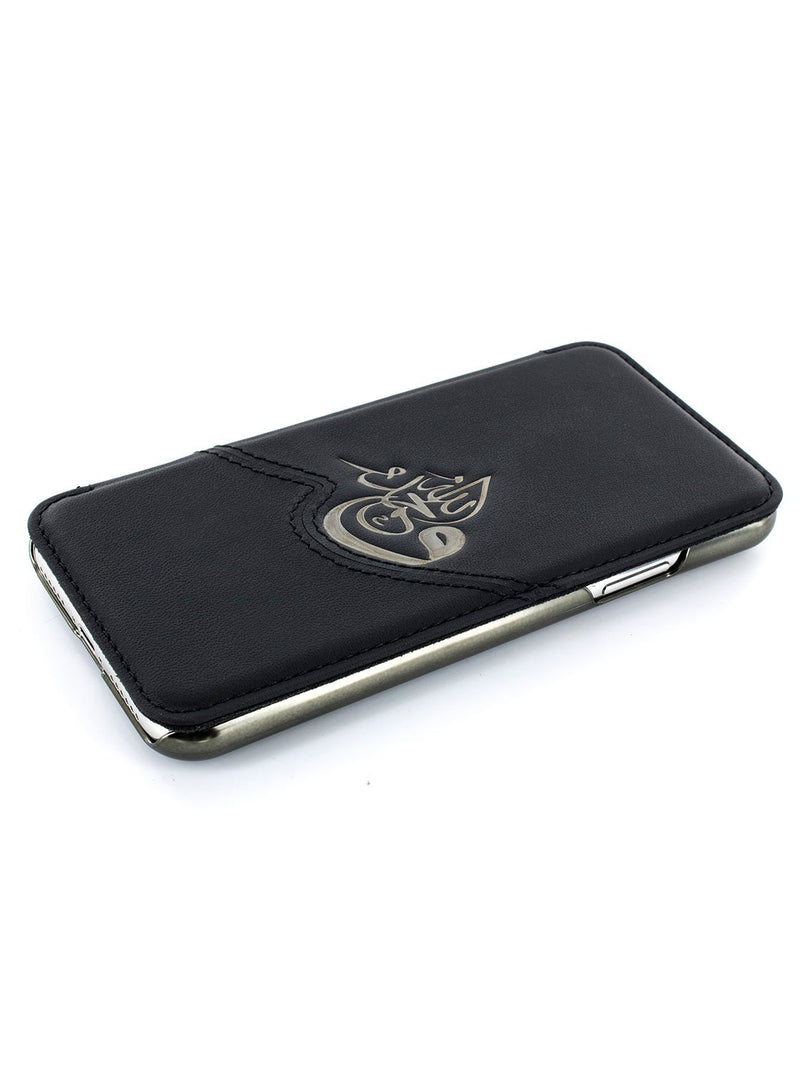 Face up image of the Greenwich Apple iPhone XS Max phone case in Black
