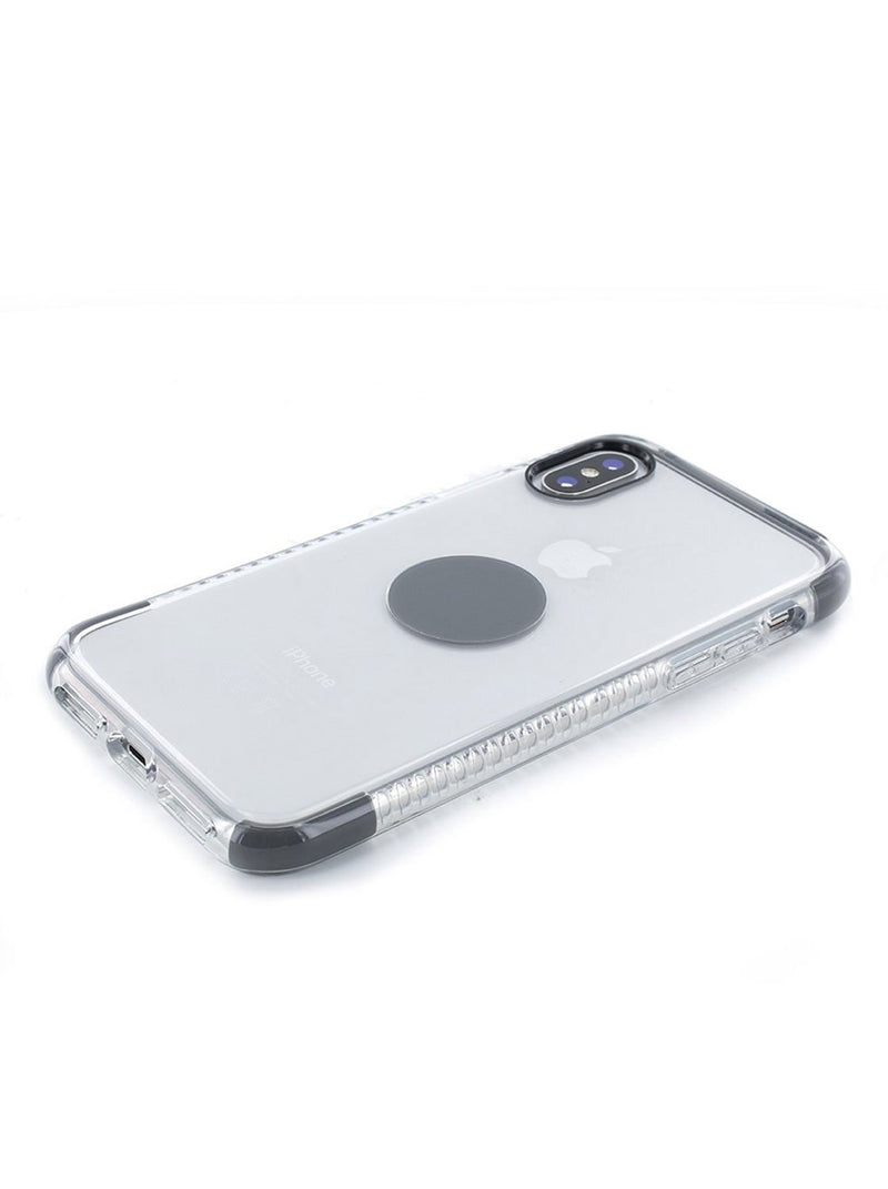 Face down image of the Proporta Apple iPhone XS / X phone case in Transparent