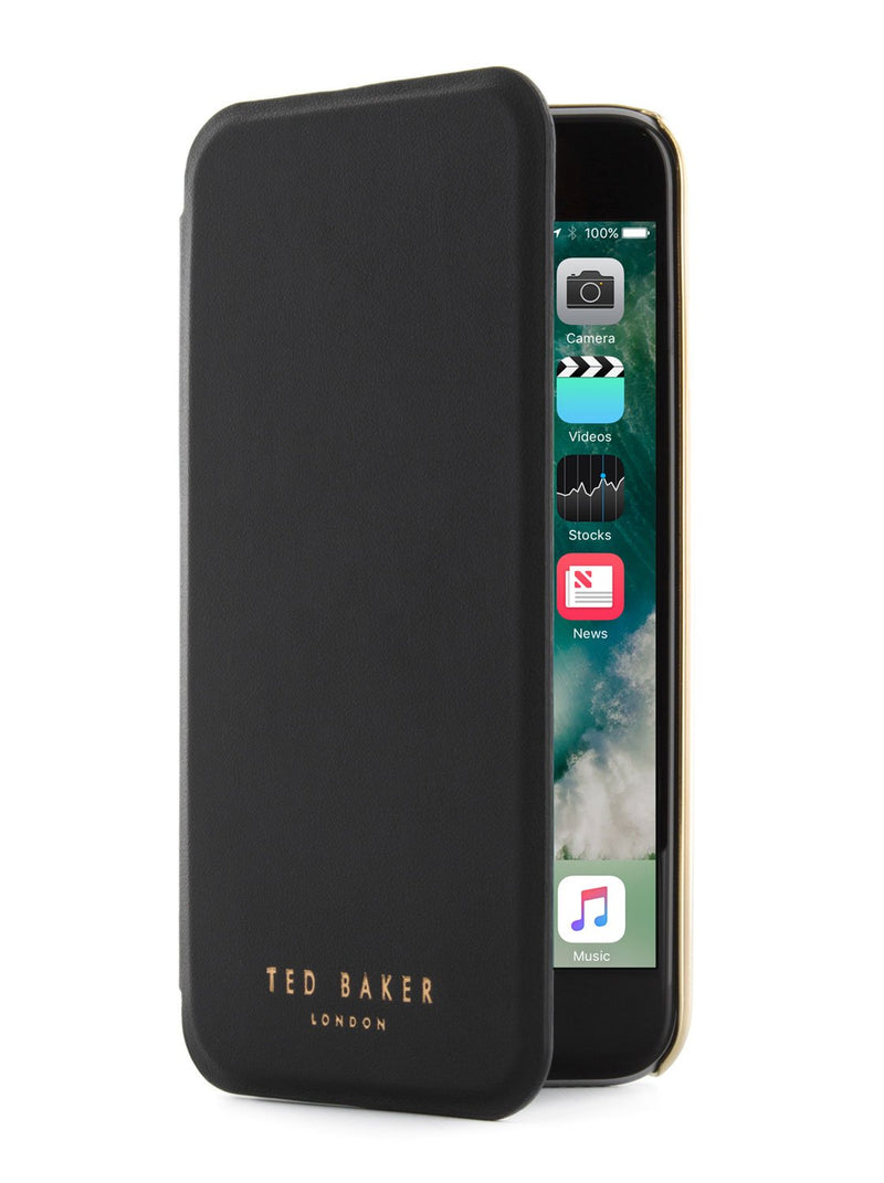 Flip cover image of the Ted Baker Apple iPhone 8 / 7 / 6S phone case in Black