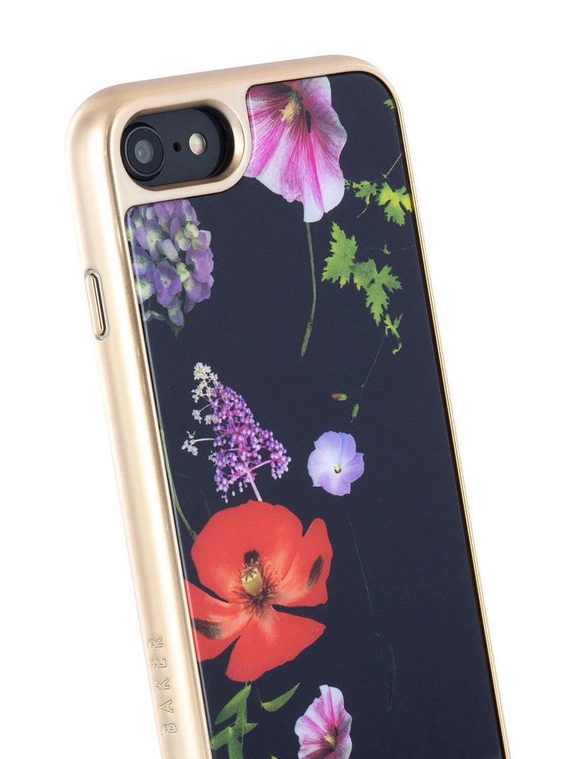 Detail image of the Ted Baker Apple iPhone 8 / 7 / 6S phone case in Black