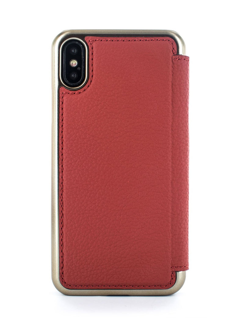 Back image of the Greenwich Apple iPhone XS / X phone case in Scarlet Red