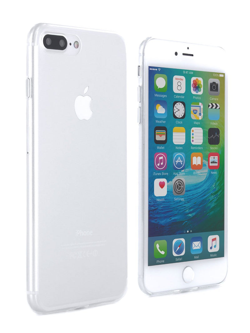 Front and back image of the Proporta Apple iPhone 8 Plus / 7 Plus phone case in Clear