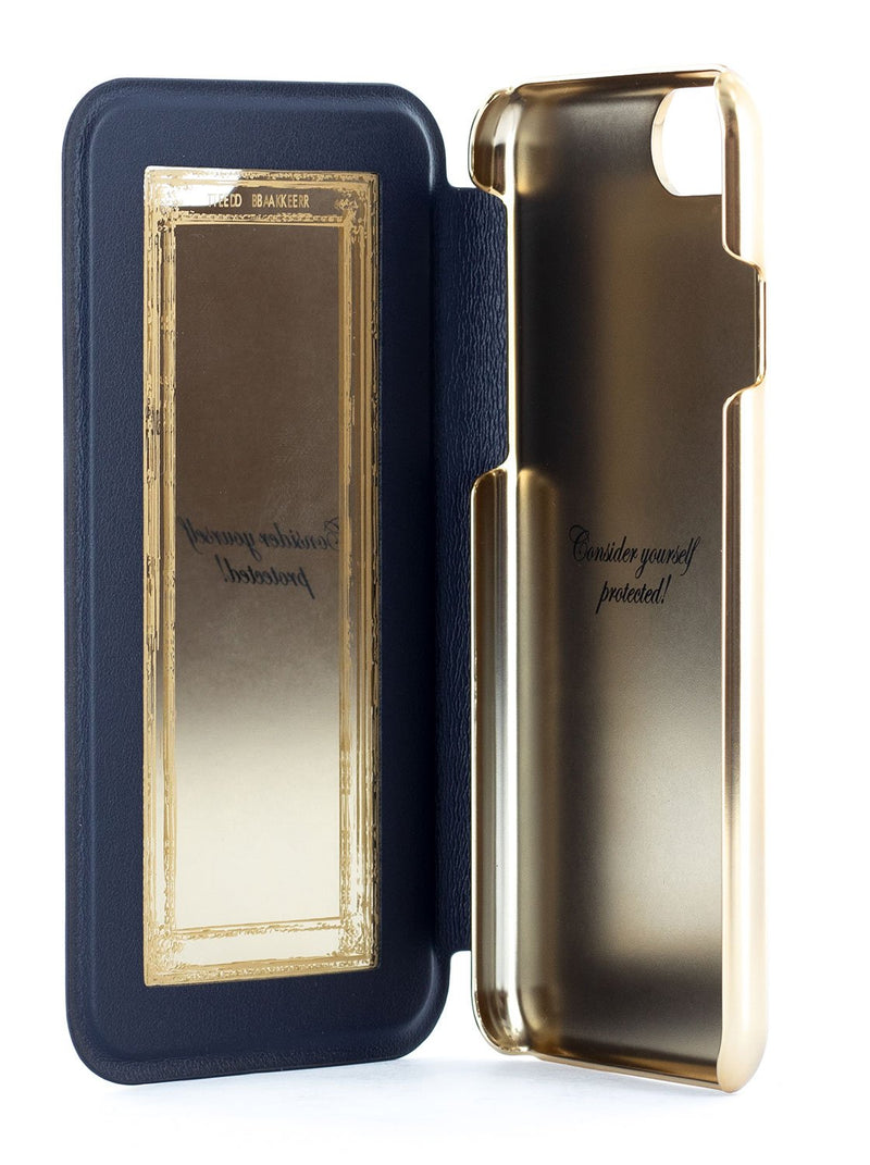 Inside image of the Ted Baker Apple iPhone 8 / 7 / 6S phone case in Blue