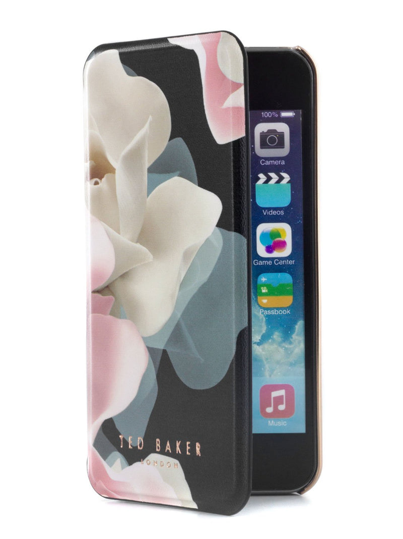 Flip cover image of the Ted Baker Apple iPhone SE / 5 phone case in Black